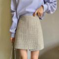 skirt Spring 2021 S,M,L,XL Green, grey Short skirt commute High waist Irregular stripe Type A 18-24 years old 51% (inclusive) - 70% (inclusive) other Amiluck other zipper Korean version