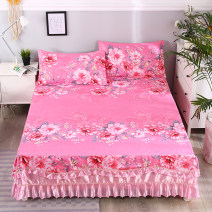 Bed skirt Four piece 1.5m bed skirt (quilt cover 200x230), four piece 1.8m bed skirt (quilt cover 200x230), four piece 2.0m bed skirt (quilt cover 200x230), three piece 1.2m bed skirt (quilt cover 150x200) cotton Other / other Plants and flowers Qualified products