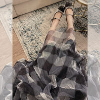 skirt Winter of 2019 XS,S,M,L Check color matching Studio / Xu Lin