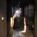 Vest / vest Youth fashion Others M,L,XL Black, gray Other leisure easy Sweat vest summer Crew neck 2020 tide The starry sky