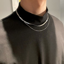 Necklace Titanium steel 1001-3000 yuan Other / other Collarbone Necklace brand new Japan and South Korea lovers goods in stock no Fresh out of the oven no other Titanium steel
