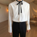shirt Youth fashion Others M,L,XL white routine stand collar Long sleeves easy daily spring youth Exquisite Korean style 2019 Solid color