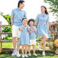 Parent child fashion A family of three neutral Mom s, mom m, mom L, mom XL, Dad m, Dad L, Dad XL, Dad XXL, Dad XXXL, boy 90, boy 100, boy 110, boy 120, boy 130, boy 140, boy 150, girl 90, girl 100, girl 110, girl 120, girl 130, girl 140, girl 150 summer Thin money Solid color skirt XXXL Class B XXL