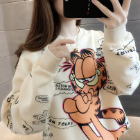 Sweater / sweater Spring 2020 Pink gray orange red black green white purple Average size Long sleeves routine Socket singleton  routine Crew neck easy commute routine Cartoon animation 18-24 years old 96% and above Book view Korean version other SJ2005W Printed stitching thread Other 100%
