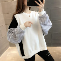 Sweater / sweater Spring 2020 White black Average size Long sleeves routine Socket singleton  routine Crew neck easy commute routine stripe 18-24 years old 96% and above Book view Korean version other SJ2088X Splicing thread Other 100% Pure e-commerce (online only)