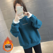 Sweater / sweater Spring of 2019 Long sleeves routine Socket singleton  Plush High collar easy commute routine Solid color 25-29 years old 96% and above Korean version other Embroidered lace Other 100% Pure e-commerce (online only)