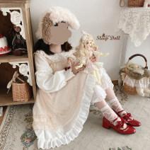 Dress Autumn 2020 White, light blue, light purple, black, beige One size fits all, [pre sale]