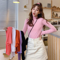Wool knitwear Autumn 2020 M L XL Watermelon red pink orange white purple black Long sleeves singleton  Socket Lycra Lycra 30% and below Regular Thin money commute Self cultivation High collar routine Solid color Socket Korean version 3521-3 18-24 years old Love Mengwei Exclusive payment of tmall