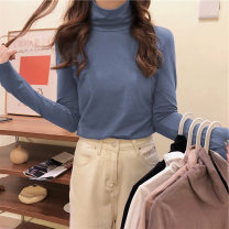 Wool knitwear Winter 2020 M L XL Long sleeves singleton  Socket Lycra Lycra 30% and below Regular routine commute easy High collar routine Solid color Socket Korean version 18-24 years old Love Mengwei Polyester 95% polyurethane elastic fiber (spandex) 5% Exclusive payment of tmall