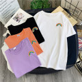 T-shirt Orange black purple white M L XL XXL Summer 2021 Short sleeve Crew neck easy Medium length routine commute polyester fiber 86% (inclusive) -95% (inclusive) 18-24 years old Korean version youth Love Mengwei Polyester 95% polyurethane elastic fiber (spandex) 5% Exclusive payment of tmall