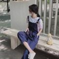 Casual pants Off white, blue S,M,L,XL Spring 2021 Ninth pants Straight pants High waist commute routine Under 17 81% (inclusive) - 90% (inclusive) A5 cotton Korean version cotton