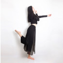 Modern Dance Costume other Black, white, red, black double-layer chiffon, white double-layer chiffon, red double-layer chiffon, 2-side split double-layer Chiffon white, 2-side split double-layer Chiffon black, 2-side split double-layer Chiffon pink, 2-side split double-layer Chiffon blue female