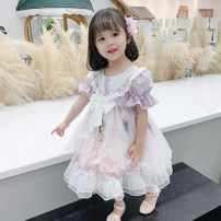 Dress Summer 2020 Picture color Mid length dress singleton  Short sleeve Sweet Crew neck Socket Princess Dress Under 17 Other / other 81% (inclusive) - 90% (inclusive) other cotton Lolita