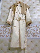 short coat Spring 2020 Average size The average size of fashion brand coat, splicing windbreaker coat, pink windbreaker coat and heavy industry Beaded coat