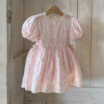 Dress Pink female Other / other S (~ 70cm), m (70 ~ 80cm), purchasing agent does not support 7 days, no reason to be cautious! Cotton 95% other 5% summer princess Short sleeve other cotton A-line skirt BSTBB32308 other 3 months, 12 months, 6 months, 9 months, 18 months, 2 years old