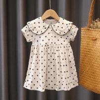 Dress white female Haas star 80cm 90cm 100cm 110cm 120cm 130cm Other 100% summer Korean version Dot other Princess Dress 210322QZ4 Class B Summer 2021 12 months, 18 months, 2 years old, 3 years old, 4 years old, 5 years old, 6 years old