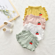 trousers Other / other female 80cm,90cm,100cm,110cm,120cm,130cm Green, white, yellow, black, gray, light pink, green dot, yellow dot, petal pink, general yellow summer shorts Korean version No model Casual pants Leather belt middle-waisted cotton Don't open the crotch Other 100% YX4588 YX4588