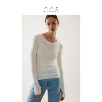 Wool knitwear Winter 2020 165/88A 160/80A 170/96A 175/104A white Long sleeves singleton  Socket wool More than 95% Regular Thin money commute Low crew neck routine Solid color Socket Simplicity 30-34 years old COS Wool 100% Same model in shopping mall (sold online and offline)