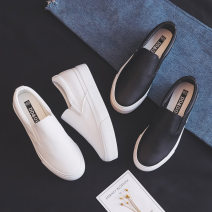 canvas shoe Low Gang White, black, pink 35 36 37 38 39 40 Summer of 2019 Trochanter Korean version rubber Solid color Youth (18-40 years old) Shallow mouth Pure e-commerce (online only)