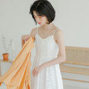 Dress Summer of 2019 white S,M,L Mid length dress singleton  Sleeveless commute V-neck High waist Decor Socket other camisole 18-24 years old Type A Other / other Korean version 31% (inclusive) - 50% (inclusive) other