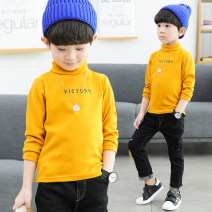 T-shirt Yingjiafang neutral spring and autumn Long sleeves High collar leisure time No model nothing cotton other Cotton 94% polyurethane elastic fiber (spandex) 6% tb90701 Class B Sweat absorption Autumn of 2019 Chinese Mainland Shandong Province Zibo City