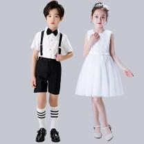 Children's performance clothes neutral 100cm 110cm 120cm 130cm 140cm 150cm 160cm 170cm 180cm Baiku glutinous rice Class B BKNM-0058 Cotton 50% polyester 50% Summer 2020