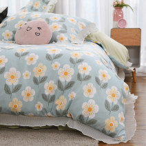 Bedding Set / four piece set / multi piece set Polyester (polyester fiber) other Plants and flowers 128x68 Maoxing (bedding) Polyester (polyester fiber) 4 pieces 40 Bed skirt Qualified products Korean style other Reactive Print  mx-2092403 other