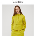 short coat Spring 2020 XS S M L XL Long sleeves have cash less than that is registered in the accounts routine singleton  Straight cylinder Original design routine Half high collar zipper Solid color 51% (inclusive) - 70% (inclusive) cotton cotton Cotton 65% polyester 35%