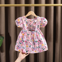 Dress female Dr. Black  Cotton 95% other 5% summer Korean version Pleated skirt Broken flower cotton Cake skirt 2021.5.11B02 Class A 7 years old, 12 months old, 3 years old, 6 years old, 18 months old, 9 months old, 2 years old, 5 years old, 4 years old Chinese Mainland Zhejiang Province Huzhou City