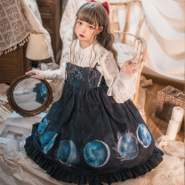 Dress Winter of 2018 Eclipse jsk S M L Middle-skirt Sweet High waist Ruffle Skirt 18-24 years old Type A Badoni Eclipse jsk More than 95% polyester fiber Polyester 99% cotton 1% Lolita Same model in shopping mall (sold online and offline)