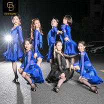 Latin dance practice set Black New Blue NEW Dance baby female S M L XL DQ59 Long sleeves Remba Chacha Samba cowboy bullfight Autumn of 2019