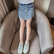 trousers Young pomelo fruit female 110cm,120cm,130cm,140cm,150cm,160cm Five button shorts, single button shorts, rainbow button shorts, colorful Su shorts, bagged white shorts, bagged black shorts summer shorts Korean version There are models in the real shooting Jeans Leather belt middle-waisted