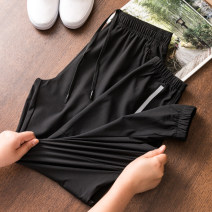 Casual pants Pampa&pop Youth fashion Black 90635 M,L,XL,2XL,3XL trousers Other leisure Self cultivation High shot