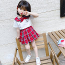 suit Sweet European bubble Red and black 80cm 90cm 100cm 110cm 120cm 130cm female summer college Short sleeve + skirt 2 pieces routine There are models in the real shooting Socket nothing lattice cotton children Expression of love 1214tz crown check Other 100% Summer 2020 Chinese Mainland Hangzhou