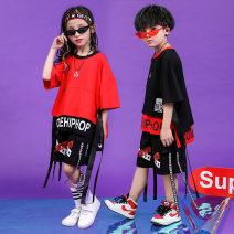 Children's performance clothes Black, red neutral 120cm,150cm,130cm,140cm,160cm,110cm,170cm,180cm Jiajia AI Class B Street dance Pure cotton (100% content) Four, five, six, seven, eight, nine, ten, eleven, twelve, thirteen, fourteen Hip hop