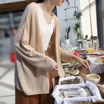 Wool knitwear Summer 2020 S M L XL Long sleeves singleton  Cardigan other More than 95% Regular Thin money Sweet easy V-neck routine Solid color Y211 18-24 years old Other 100% Pure e-commerce (online only) Countryside