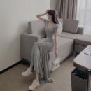 Women's large Summer 2021 Grey Blazer black blazer grey skirt black skirt S M L XL Meiqingfen Other 100%