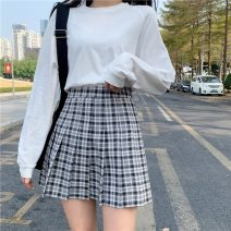 skirt Summer 2021 S M L XL Small black, big black, yellow, purple, pink, blue Short skirt commute High waist Pleated skirt lattice Type A 18-24 years old More than 95% other Gehan Meiyi other fold Korean version Other 100% Pure e-commerce (online only)