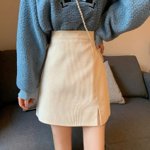 skirt Winter 2020 L M S Black coffee apricot Short skirt commute High waist A-line skirt Solid color Type A 18-24 years old eA5m8z More than 95% corduroy Gehan Meiyi other zipper Korean version Other 100.00% Exclusive payment of tmall