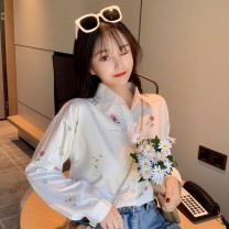 shirt Picture color S M L XL 2XL Spring 2021 other 96% and above Long sleeves commute Regular Polo collar Single row multi button shirt sleeve Broken flowers 18-24 years old Straight cylinder Gehan Meiyi Korean version eCKH2J Printed button Other 100.00% Exclusive payment of tmall