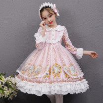 Dress female 110cm 120cm 130cm 140cm 150cm 160cm Polyester 100% spring and autumn solar system Long sleeves Broken flowers other A-line skirt Class B Autumn 2020 Chinese Mainland Guangdong Province Shantou City
