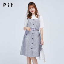 Dress Spring 2020 lattice S M L Middle-skirt Sleeveless lattice straps 25-29 years old Pit (clothing) 91% (inclusive) - 95% (inclusive) polyester fiber Polyester fiber 94.2% polyurethane elastic fiber (spandex) 5.8% Same model in shopping mall (sold online and offline)