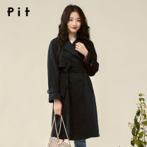 Windbreaker Spring 2020 S M L Navy Blue Medium length commute Solid color Pit (clothing) 25-29 years old 96% and above cotton Cotton 100% Same model in shopping mall (sold online and offline)