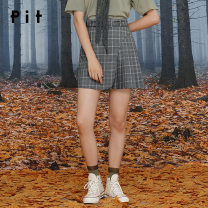 skirt Autumn 2020 S M L lattice Short skirt commute High waist A-line skirt lattice Type A 18-24 years old 81% (inclusive) - 90% (inclusive) Pit (clothing) polyester fiber pocket Polyester 85.9% viscose 14.1% Same model in shopping mall (sold online and offline)