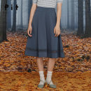 skirt Autumn 2020 S M L Black blue longuette commute Natural waist A-line skirt Solid color Type A 25-29 years old 91% (inclusive) - 95% (inclusive) Pit (clothing) polyester fiber zipper Polyester fiber 94.5% polyurethane elastic fiber (spandex) 5.5%