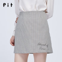 skirt Spring of 2019 S M L lattice Middle-skirt commute Natural waist A-line skirt lattice 25-29 years old More than 95% Pit (clothing) polyester fiber Polyester 97.6% polyurethane elastic fiber (spandex) 2.4% Same model in shopping mall (sold online and offline)