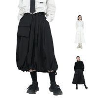skirt Winter of 2018 M, L White, black longuette Versatile High waist Pleated skirt 18-24 years old 91% (inclusive) - 95% (inclusive) other polyester fiber