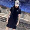 Dress Summer 2021 Black, white S,M,L,XL,2XL,3XL Short sleeve Crew neck Cartoon animation Socket routine printing D202104061 cotton
