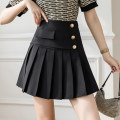 skirt Spring 2021 S M L XL Black apricot Short skirt Versatile High waist Pleated skirt Solid color Type A 25-29 years old XH9696#34 91% (inclusive) - 95% (inclusive) Leisure trace other fold New polyester 95% other 5% Pure e-commerce (online only)