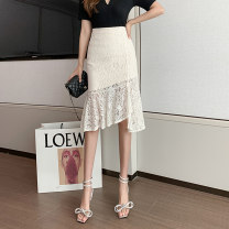 skirt Spring 2021 S M L XL Black apricot longuette commute High waist skirt Solid color Type A 25-29 years old XH9098#38 91% (inclusive) - 95% (inclusive) Lace Leisure trace other Lace Korean version New polyester 95% other 5% Pure e-commerce (online only)